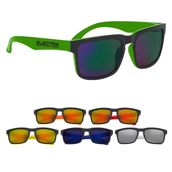 Promotional Crescent Mirrored Sunglasses