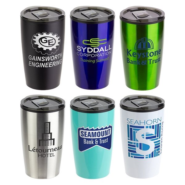 Promotional Optima 14 oz Stainless Steel / Polypropylene Tumbler