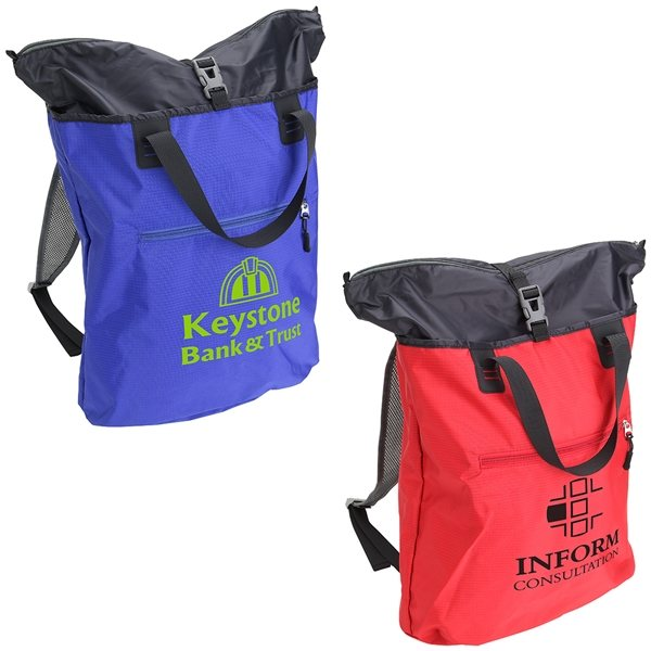 Promotional Expedition 2- in -1 Backpack + Tote Bag
