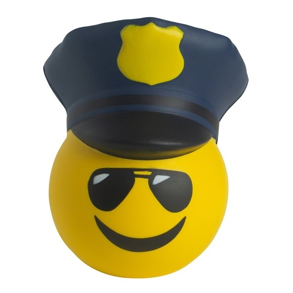 Promotional Police Officer Emoji Hat Stress Reliever