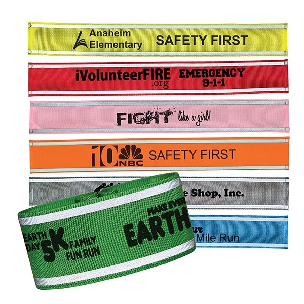 Promotional Nylon Reflective Snap Band