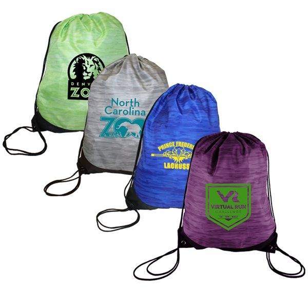 Promotional Reflections Polyester Drawstring Backpack