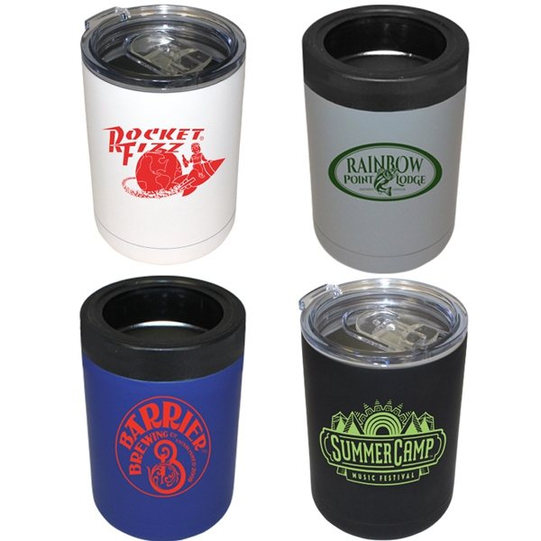 Promotional 12 oz Halcyon(R) Tumbler / Can Cooler