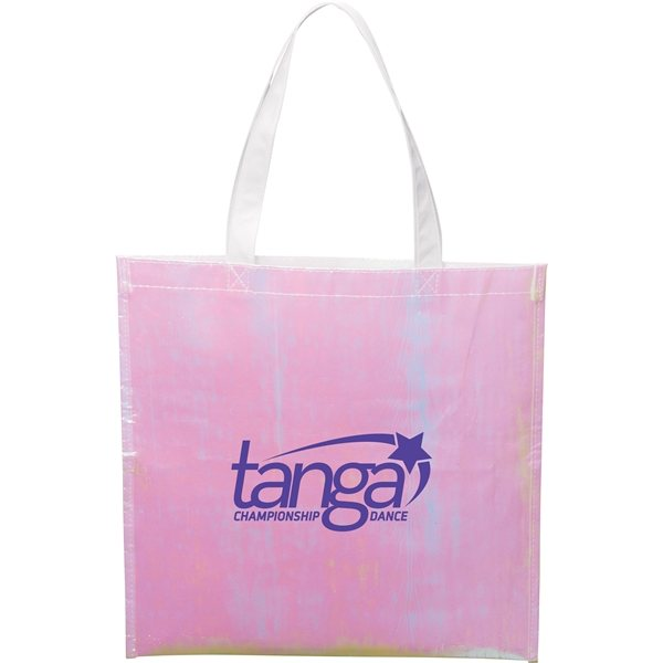 Promotional Iridescent Non - Woven Convention Tote