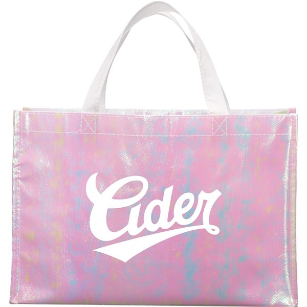Promotional Iridescent Non - Woven Shopper Tote