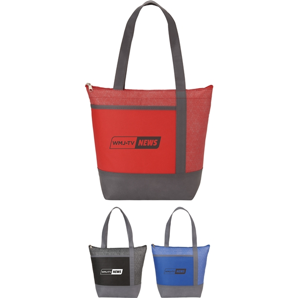 Promotional Chrome Non - Woven 9 Can Lunch Cooler