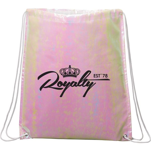 Promotional Iridescent Non - Woven Drawstring Bag