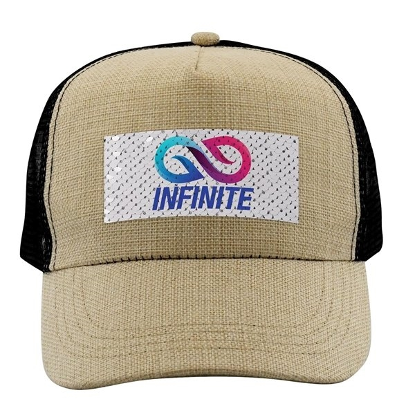 Promotional Vibrant Sequin Baseball Hat
