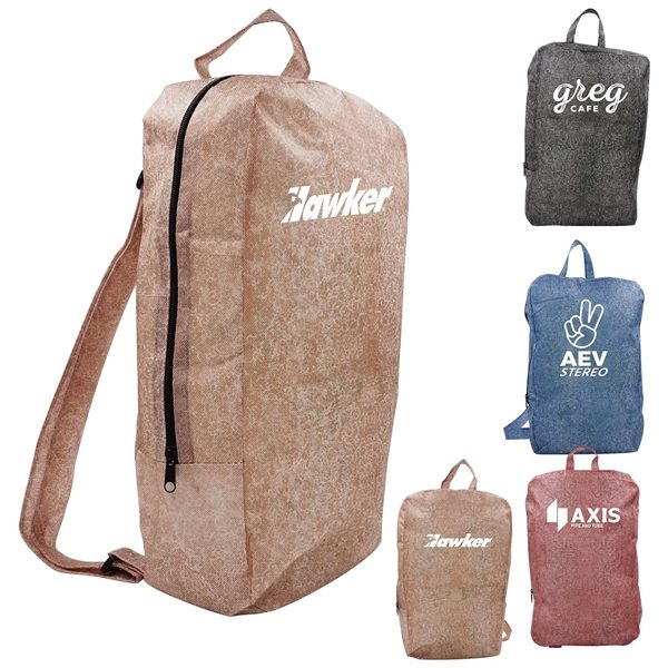 Promotional Non Woven Stone Design Backpack