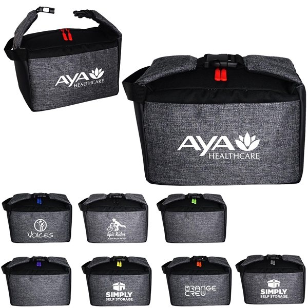 Promotional X Line Clip Cooler with Colorful Zipper Pulls