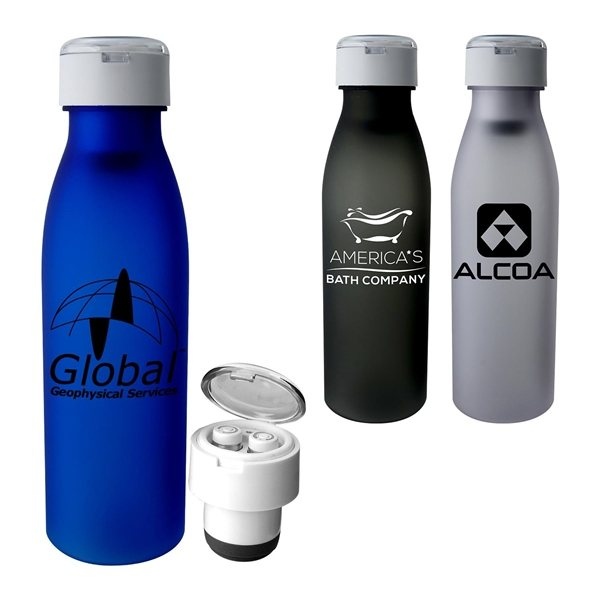 Promotional Silhouette Bluetooth Ear Bud Bottle