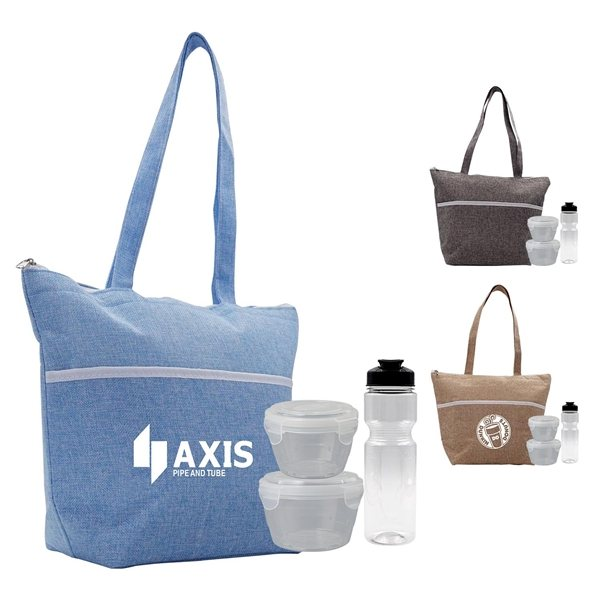 Promotional Beach Lunch Set with Water bottle and 2 Bowls