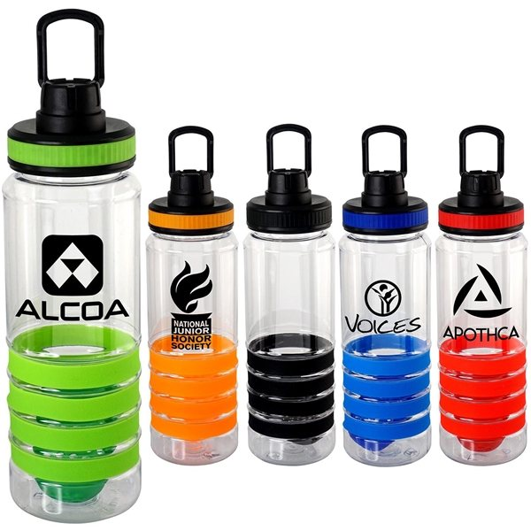 Promotional Band - It 28 Oz Sporty Ring Bottle With Floating Infuser