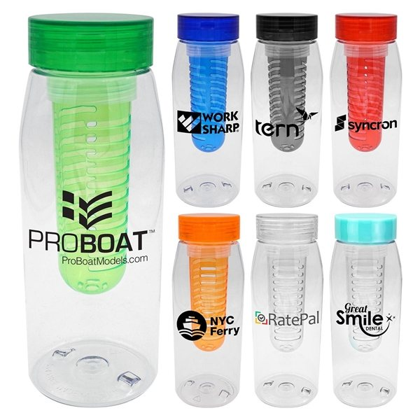 Promotional Clear View 32 oz Bottle with Chiller