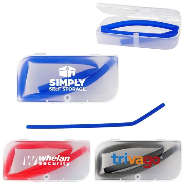 Promotional Travel Straw with Magnetic Case