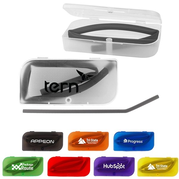 Promotional Colorful Travel Straw Case