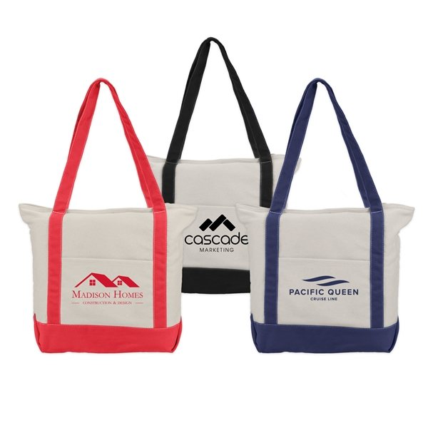Promotional Zephyr - Cotton Canvas Boat Tote Bag