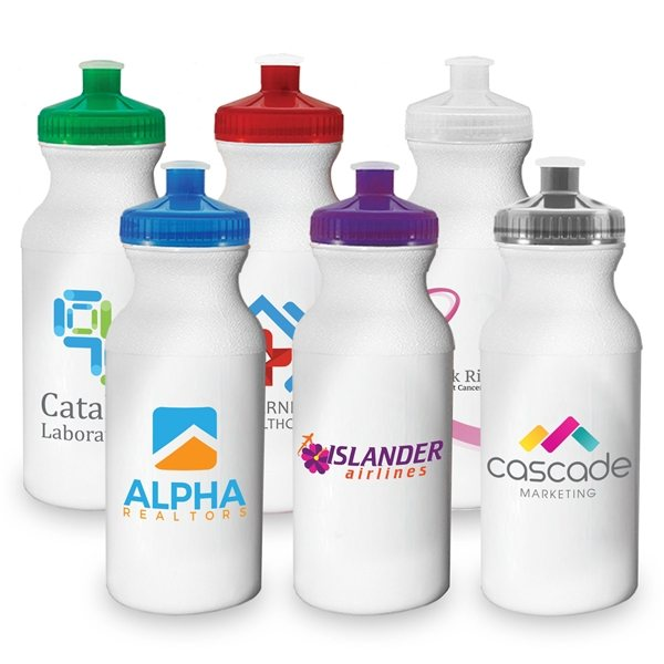 Promotional Bike - 20 oz Sports Water Bottle - ColorJet