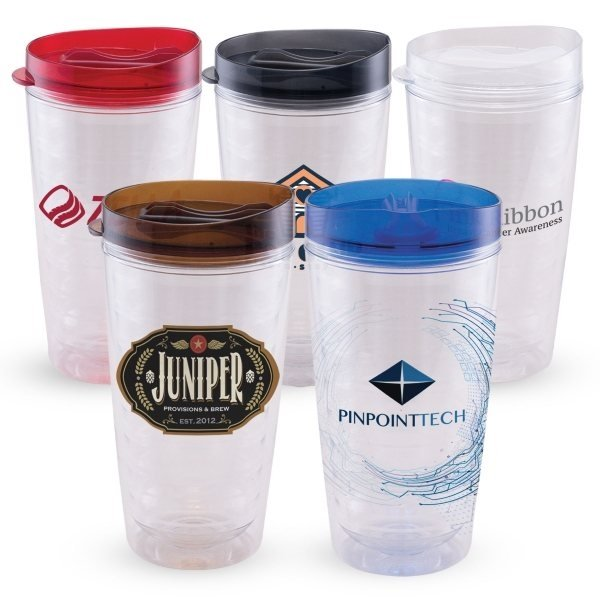 Promotional Tornado - 16 oz. Double Wall Tritan Tumbler - ColorJet