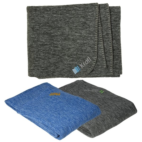 Promotional Heather Fleece Blanket