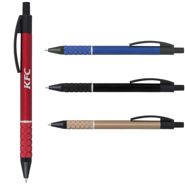 Promotional Super Glide Metal Pen with Black Accents