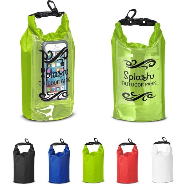 Promotional 2L Water - Resistant Dry Bag with Mobile Pocket