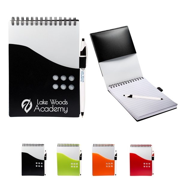 Promotional Two - Tone Jotter with Contour Pen