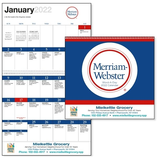 Promotional Word - A - Day by Merriam - Webster - Spiral