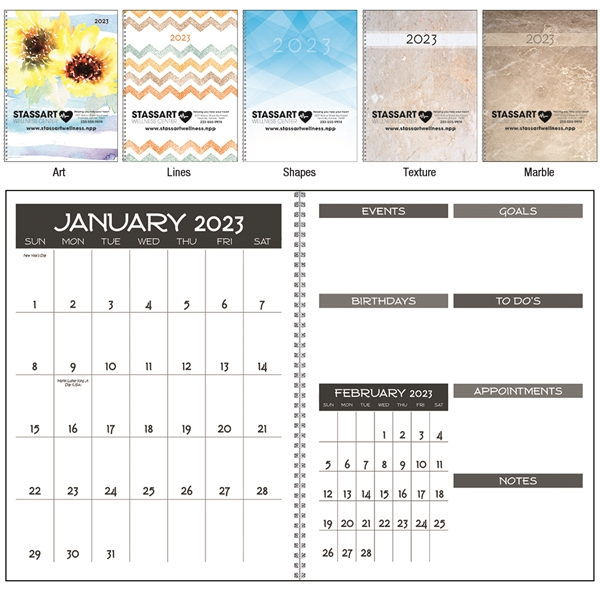 Promotional Monthly Happenings Planner