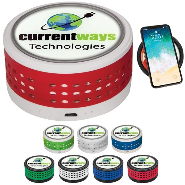 Promotional Wireless Charger w / Bluetooth Speaker