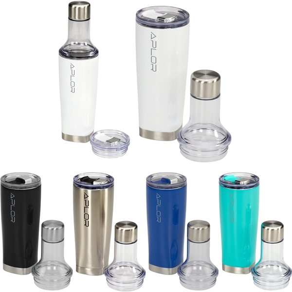 Promotional Duo Copper Vacuum Bottle Tumbler 22 oz