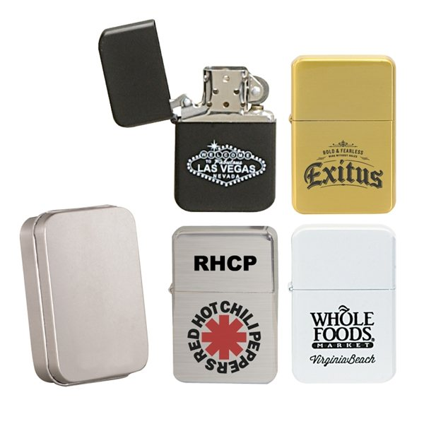 Promotional Oil Flip Top Wick Style Lighter (Without Oil)
