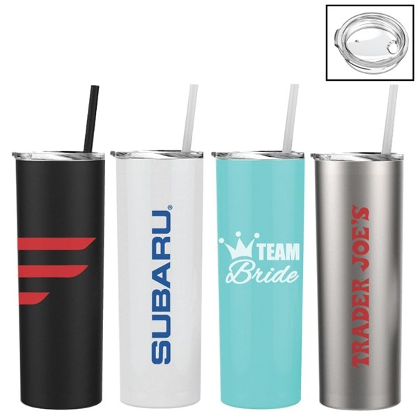 Promotional Cayman Skinny 20 oz Stainless Steel Vacuum Insulated Tumbler