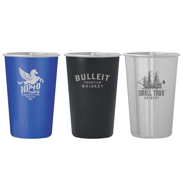 Promotional Dubliner Stainless Steel Pint Glass Cup