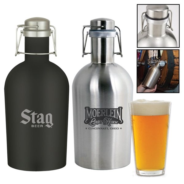 Promotional Portland 64 oz. Stainless Steel Beer Growler Jug