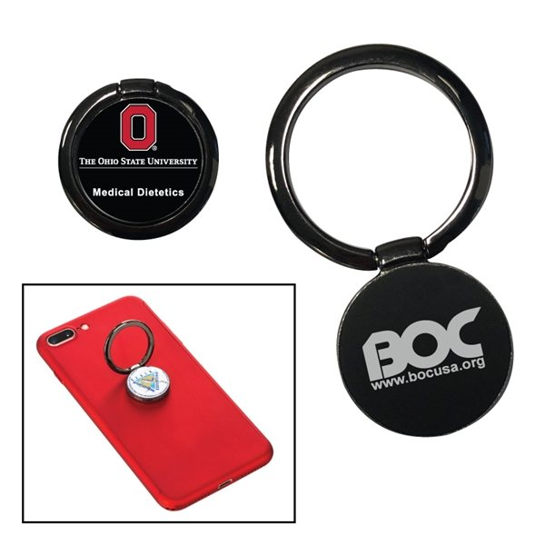 Promotional Metal Cell Phone Ring Holder and Stand