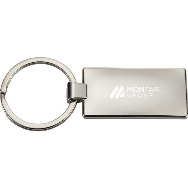 Promotional Metal and Cork Keychain