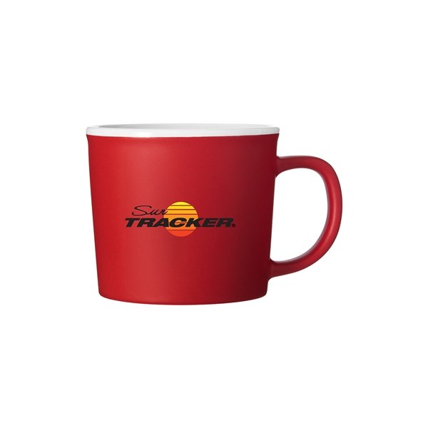 Promotional 10 oz Jax Red Stoneware Mug