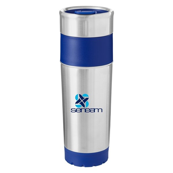 Promotional 14 oz Double Wall Stainless Steel Tumbler - Blue