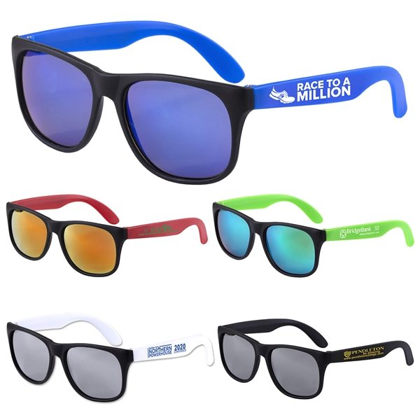 Promotional Newport Tint Colored Mirror Tint Sunglasses