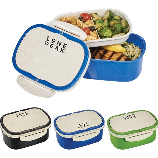 Promotional Plastic and Wheat Straw Lunch Box Container
