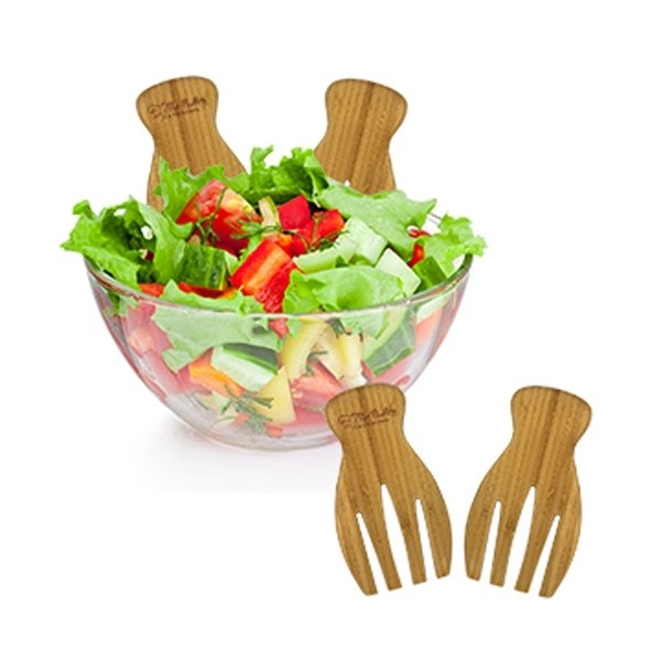 Promotional Bamboo Salad Tongs