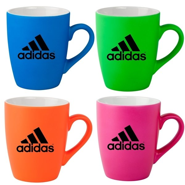 Promotional Neon Soft Touch 12oz Ceramic Mugs