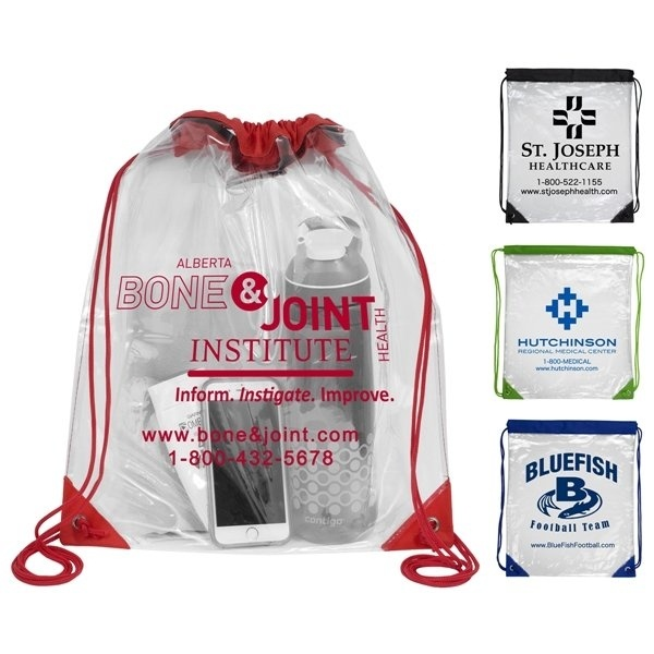 Promotional Everest Clear Drawstring Cinch Pack Backpack