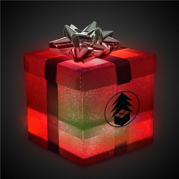 Promotional Silver LED Morphing Color Gift Box