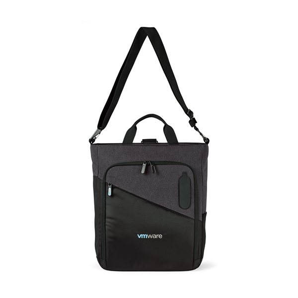 Promotional Life in Motion(TM) Linked Charging Computer Tote - Black / Dark Grey Heather