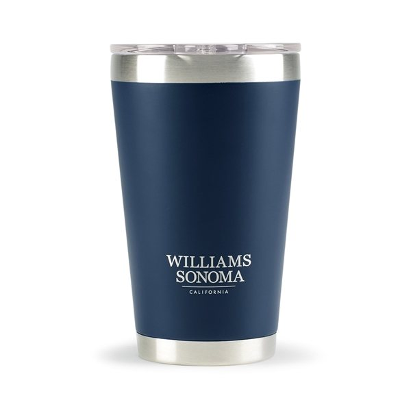 Promotional Aviana(TM) Vale Double Wall Stainless Pint - 16 oz - Matte Navy