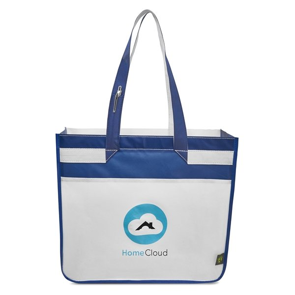 Promotional Sedona Laminated Shopper - Navy / Royal