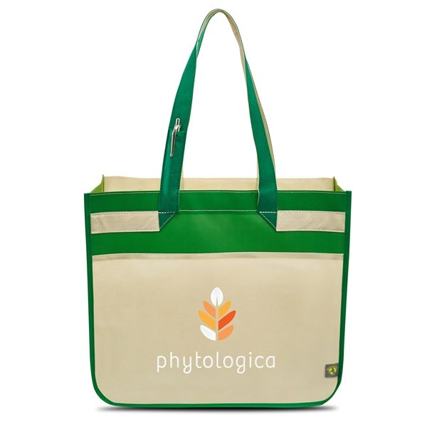 Promotional Sedona Laminated Shopper - Kelly / Apple