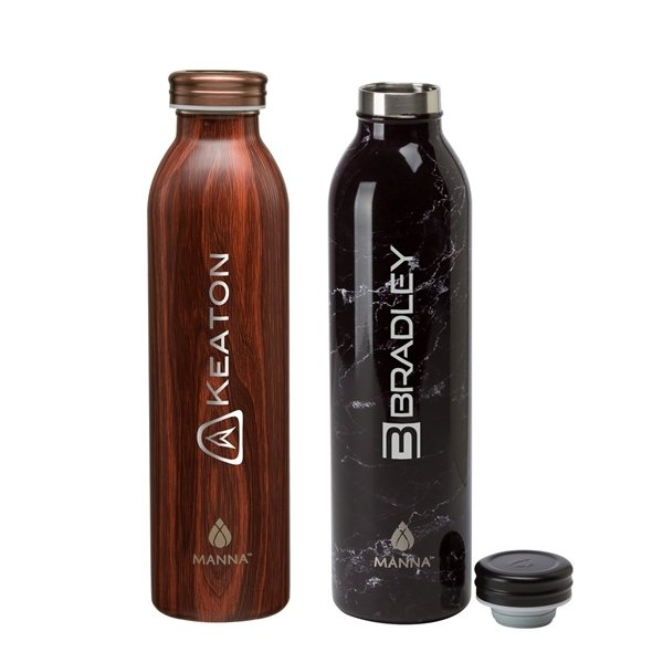 Promotional Manna(TM) 20 oz. Retro Stainless Steel Water Bottle